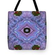 Purple Hydrangea Flower Abstract Tote Bag