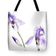 Purple Iris Glow Tote Bag
