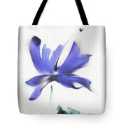 Purple Iris In The Greenery Tote Bag