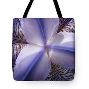Purple Iris Inside Tote Bag