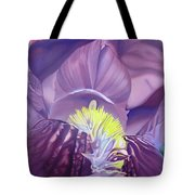 Georgia O'keeffe Style-purple Iris Tote Bag