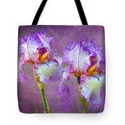 Purple Iris Tote Bag by Lena Auxier