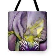 Purple Iris - Macro Tote Bag