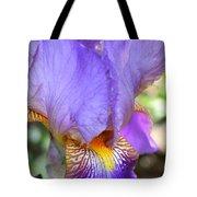 Purple Iris Macro Tote Bag