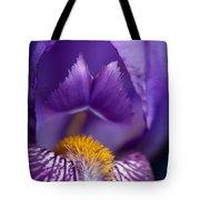 Purple Iris Macro Textured 1 Tote Bag