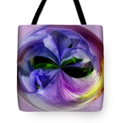 Purple Iris Orb Tote Bag