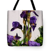 Purple Iris Stalk Tote Bag