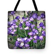 Purple Irises Tote Bag