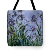 Purple Irises Tote Bag