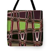 Purple Leaves Abstract Tote Bag