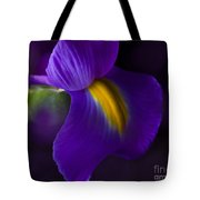 Purple Light Iris Macro Tote Bag