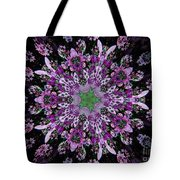 Purple Lilac Kalidescope Tote Bag