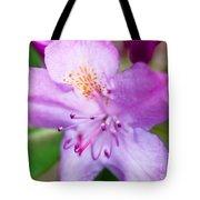 Purple Long Pistil Flower Tote Bag