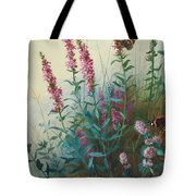 Purple Loosestrife And Watermind Tote Bag