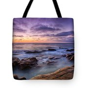 Purple Majesty No Mountain Tote Bag