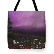 Purple Meadow Tote Bag