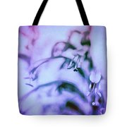 Purple Memories Of Flowers Tote Bag