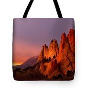 Purple Morning At Garden Of The Gods Tote Bag
