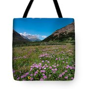 Purple Mountain Flowers Tote Bag