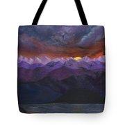 Purple Mountain Sunset Tote Bag
