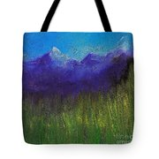 Purple Mountains By Jrr Tote Bag