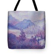 Purple Mountains Fantasy Tote Bag