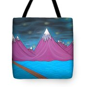 Purple Mountains Tote Bag by Robert Nickologianis