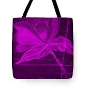Purple Negative Wood Flower Tote Bag