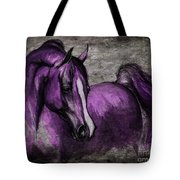 Purple One Tote Bag by Angel  Tarantella