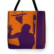 Purple Orange Figure Shadow Tote Bag