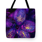 Purple Orchid Abstract Tote Bag
