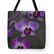 Purple Orchid Flower Tote Bag