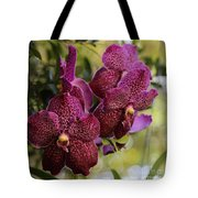 Purple Orchids With Bokeh Tote Bag