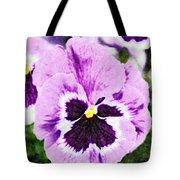 Purple Pansy Close Up - Digital Paint Tote Bag