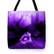 Purple Pansy Rising Tote Bag