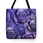 Purple Passion Rose Flower Abstract Tote Bag