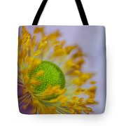 Purple Pastel Daisy Tote Bag