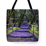 Purple Path Through The Valley Tote Bag