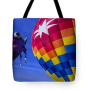 Purple People Eater Rides The Wind Tote Bag