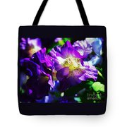 Purple Petunia Portrait Tote Bag