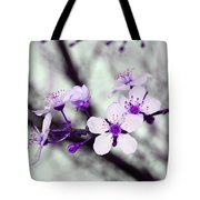 Purple Pink Blossoms Tote Bag