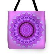 Purple Pink Kaleidoscope Tote Bag