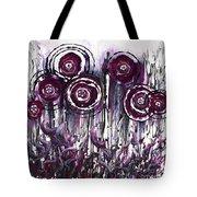 Purple Poppies Tote Bag
