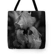 Purple Rain In Black And White Tote Bag