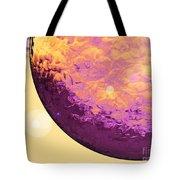 Purple Raindrop Tote Bag