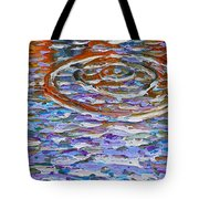 Purple Ripple Tote Bag