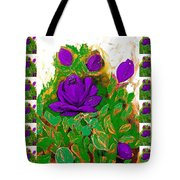 Purple Roses From The Garden 2 Tote Bag