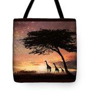 Purple Safari Sunset Tote Bag