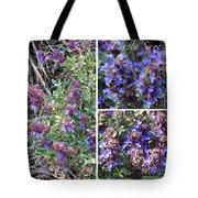Purple Sage Collage Tote Bag