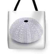 Purple Sea Urchin White Tote Bag